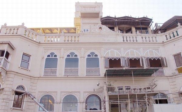 Palace on Ganges in Varanasi, Uttar Pradesh